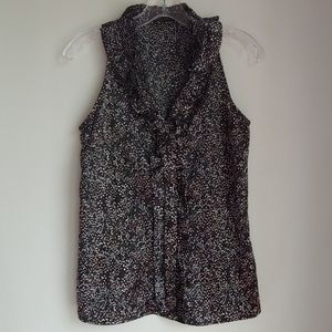 THE LIMITED RUFFLED SLEEVELESS TOP XS